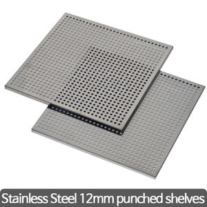 Stainless steel 12mm pubched shelves(Drying Oven) 타공 선반 (가이드 포함)
